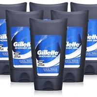 6x-Gillette-COOL-WAVE-Shower-Gel-MEN-Body-Wash-Triple-Protection-250ml-0