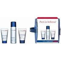 CLARINS-GIFT-SET-MEN-Rasage-Ideal-Smooth-Shave-50ml-Nettoyant-Visage-30ml-Baume-Super-Hydratant-12ml-0