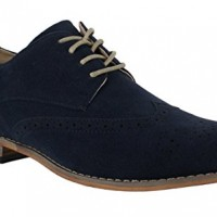 Classics-Mens-Faux-Suede-Smart-Formal-Casual-Lace-Up-Brogues-Shoes-UK-9-Navy-0