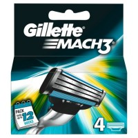 Gillette-Mach-3-Manual-Razor-Blades-Pack-of-4-0