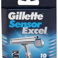 Gillette-Sensor-Excel-for-Men-Refill-Razor-Blade-Cartridges-Pack-of-10-0