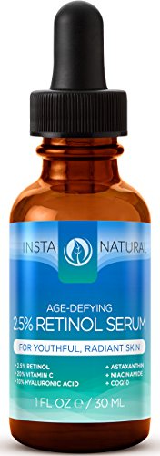 InstaNatural-Retinol-Serum-25-with-20-Vitamin-C-10-Hyaluronic-Acid-Vitamin-E-Powerful-Skin-Firming-Antioxidant-Blend-for-Face-Eyes-Sensitive-Skin-1OZ-Bottle-Perfect-for-Day-or-Night-The-Best-Daily-Ant-0