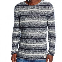 JACK-JONES-Mens-Jjorcasper-Knit-Crew-Neck-Striped-Jumper-Multicoloured-cloud-Dancer-Detailreg-X-Large-Manufacturer-size-XL-0