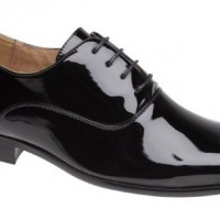 Mens-Evening-Uniform-Oxford-shoes-Black-Patent-size-9-0