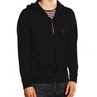 New-Look-Mens-Basic-Zip-Through-Long-Sleeve-Hoodie-Black-Small-0