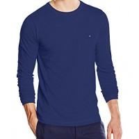 Tommy-Hilfiger-Mens-FLAG-TEE-C-NK-LS-RF-T-Shirt-T-Shirt-Blue-navy-Blazer-pt-416-X-Large-Manufacturer-size-XL-0