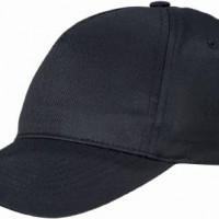 US-BASIC-5-PANEL-BASEBALL-CAP-HAT-8-COLOURS-BLACK-0