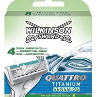Wilkinson-Sword-Quattro-Titanium-Sensitive-Razor-Blades-Pack-of-8-Blades-0