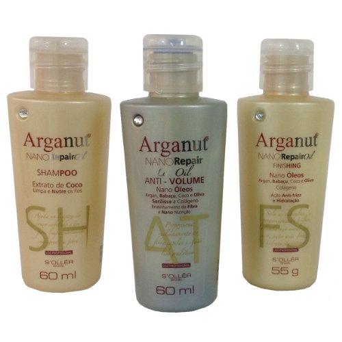 Agimax GOLD Kit – Home Hair Straightening Treatment Kit – Authetnic Arganut  NANO Brazilian Blow Dry Nano Keratin Kit by S'OLLER BRASIL – the