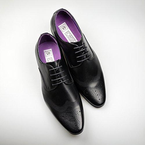 51e636d32270 Mens Fashion New Black Leather Shoes Formal Smart Dress UK Size 6 7 ...
